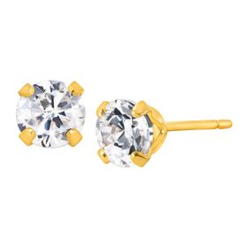 3/4 ct Stud Earrings with Cubic Zirconia