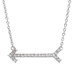 Arrow Necklace with Diamonds