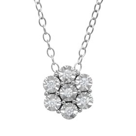 Flower Pendant with Diamonds