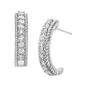 1/10 ct Diamond Hoop Earrings
