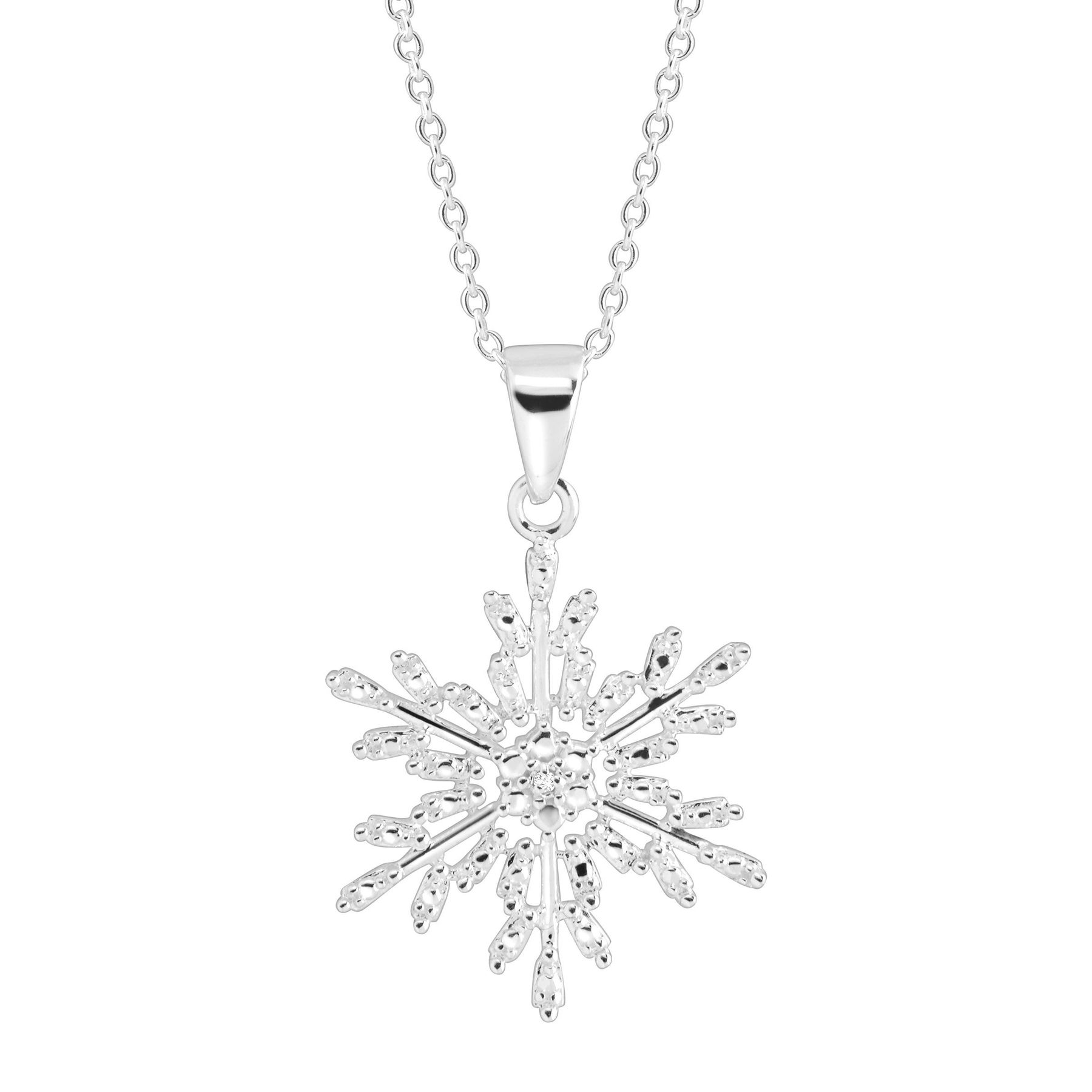 lisa pendant in necklace crystal angel silver jewellery snowflake