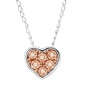 Teeny Tiny Heart Pendant with Champagne Diamonds