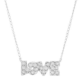 'Love' Block Script Necklace with Diamonds