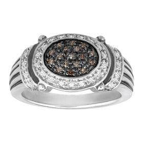 1/5 ct Brown & White Diamond Ring