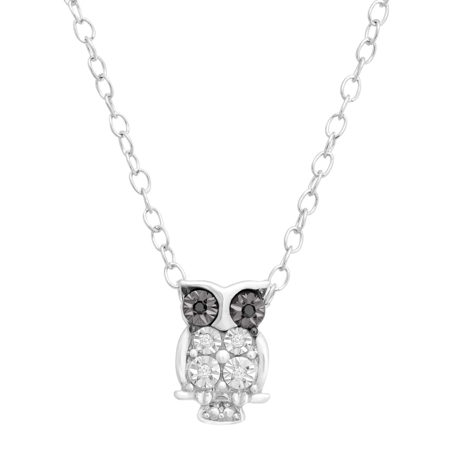 necklace gold products owl dainty tinksjewelry night animal pendant