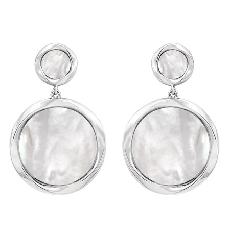 White Mother-of-Pearl Drop Earrings
