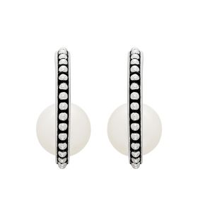 8.5-9 mm Pearl J-Hoop Earrings