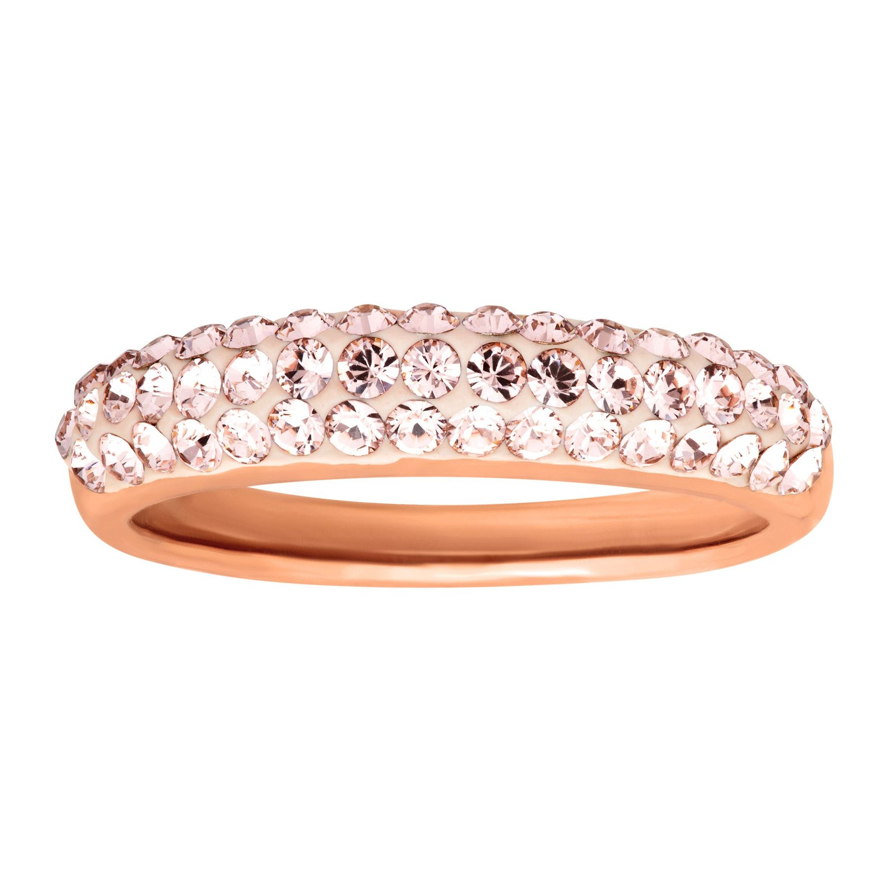 ad9dfc0ba Crystaluxe Band Ring with Vintage Rose Swarovski Crystals in 14K ...