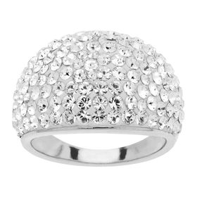 Dome Ring with White Swarovski
