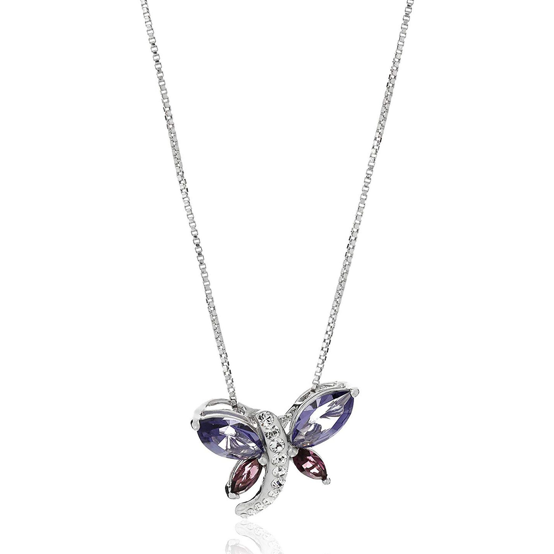 2827e977f Crystaluxe Dragonfly Pendant with Swarovski Crystals in Sterling ...