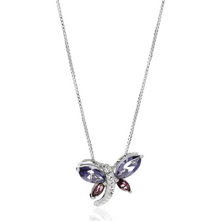 Dragonfly Pendant with Swarovski Crystals