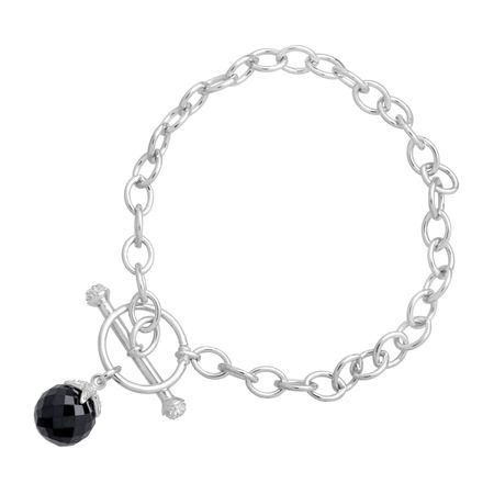 6 ct Onyx Toggle Bracelet with Diamonds