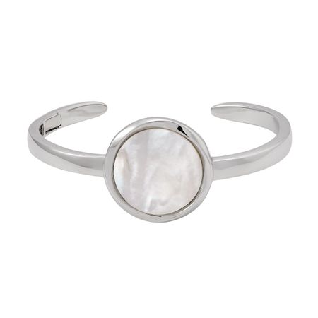 White Mother-of-Pearl Cuff Bracelet