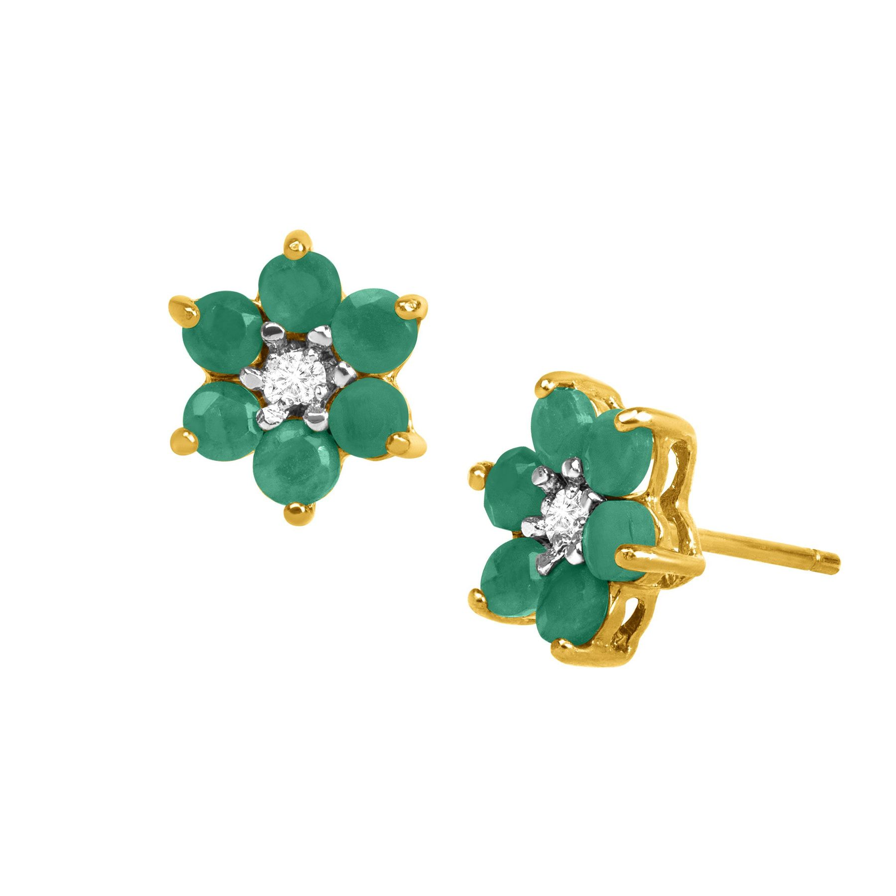 stud item click rich to beautiful natural earrings ctw expand emerald full diamond and