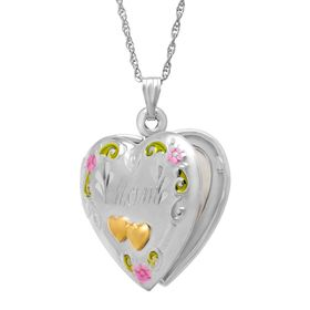 Double Heart 'Mom' Locket