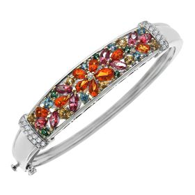5 1/2 ct Multi-Color Natural Topaz Bangle Bracelet