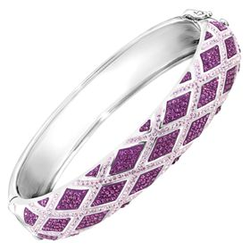 Harlequin Bangle Bracelet with Swarovski Crystals