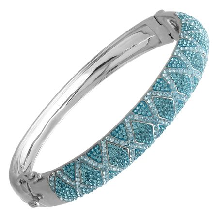 f6398b763 Crystaluxe Harlewuin Bangle Bracelet with Swarovski Crystals in ...
