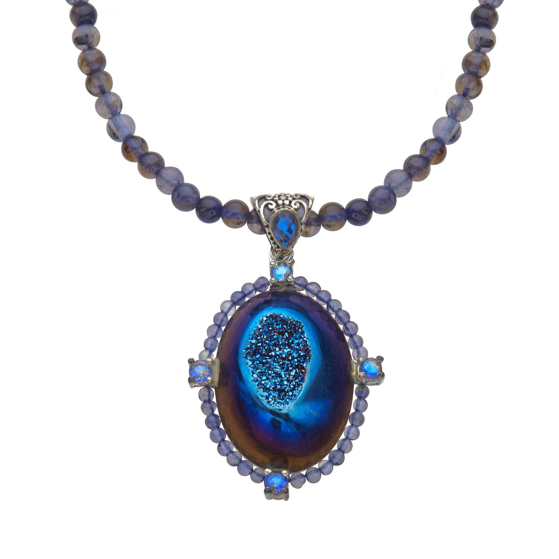 diamond iolite asp necklace p and
