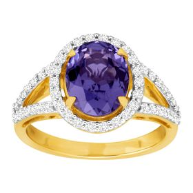 3 5/8 ct Tanzanite & Cubic Zirconia Ring
