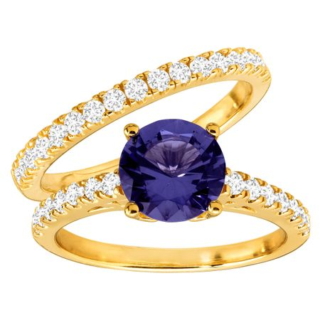 Tanzanite & Cubic Zirconia Ring Set