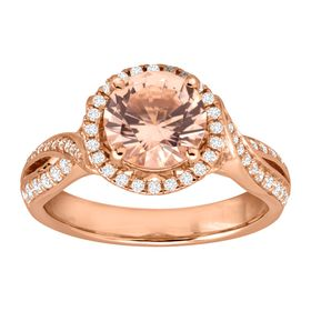 2 3/8 ct Morganite & Cubic Zirconia Ring
