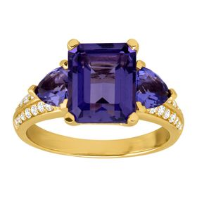 Tanzanite & Cubic Zirconia Ring