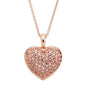7/8 ct Morganite Puffed Heart Pendant