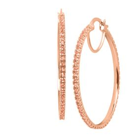 Nano Morganite Hoop Earrings
