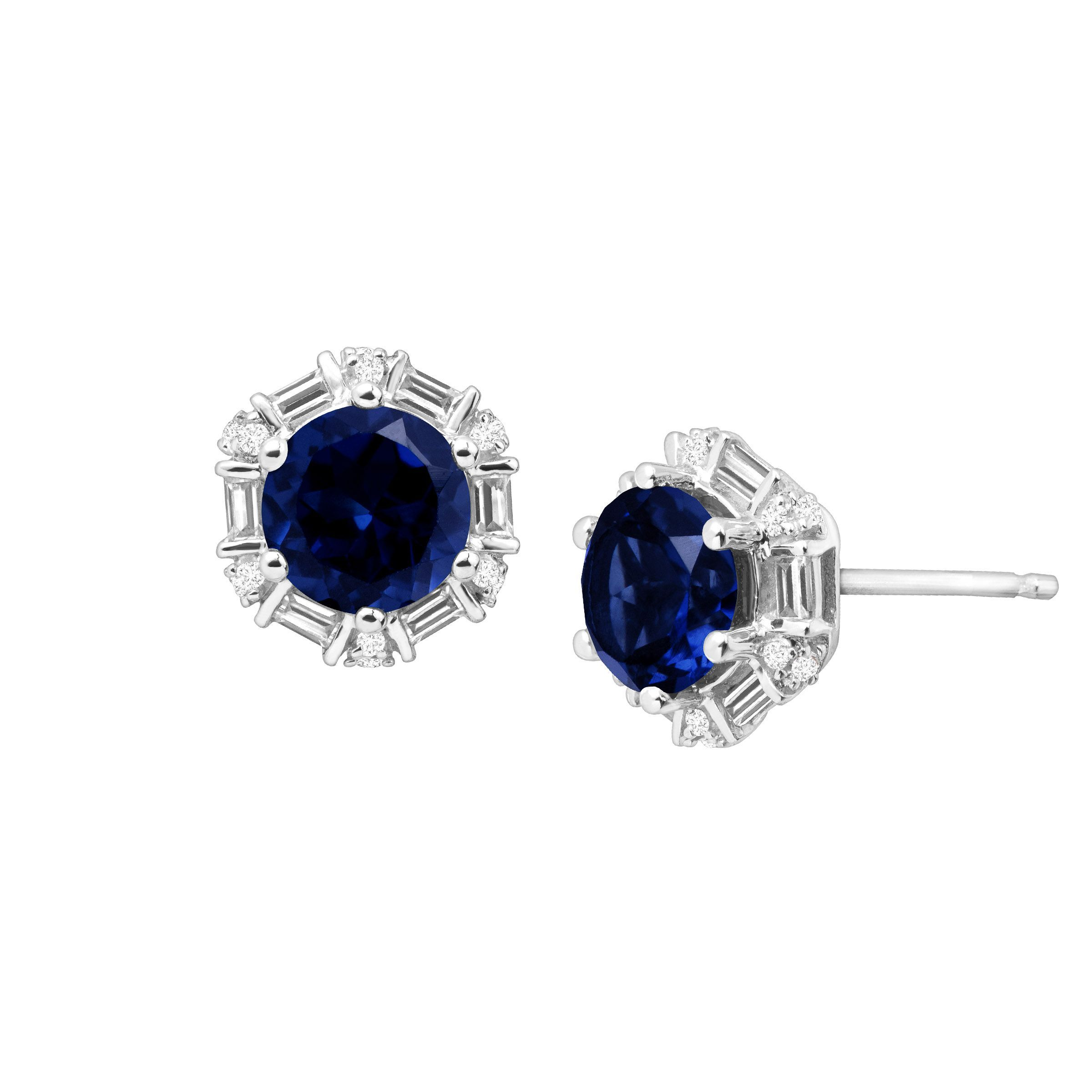 from image gold womens stud sapphire pear small earrings white
