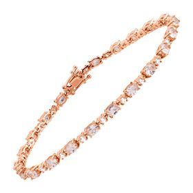 6 1/5 ct Morganite Tennis Bracelet with Cubic Zirconia