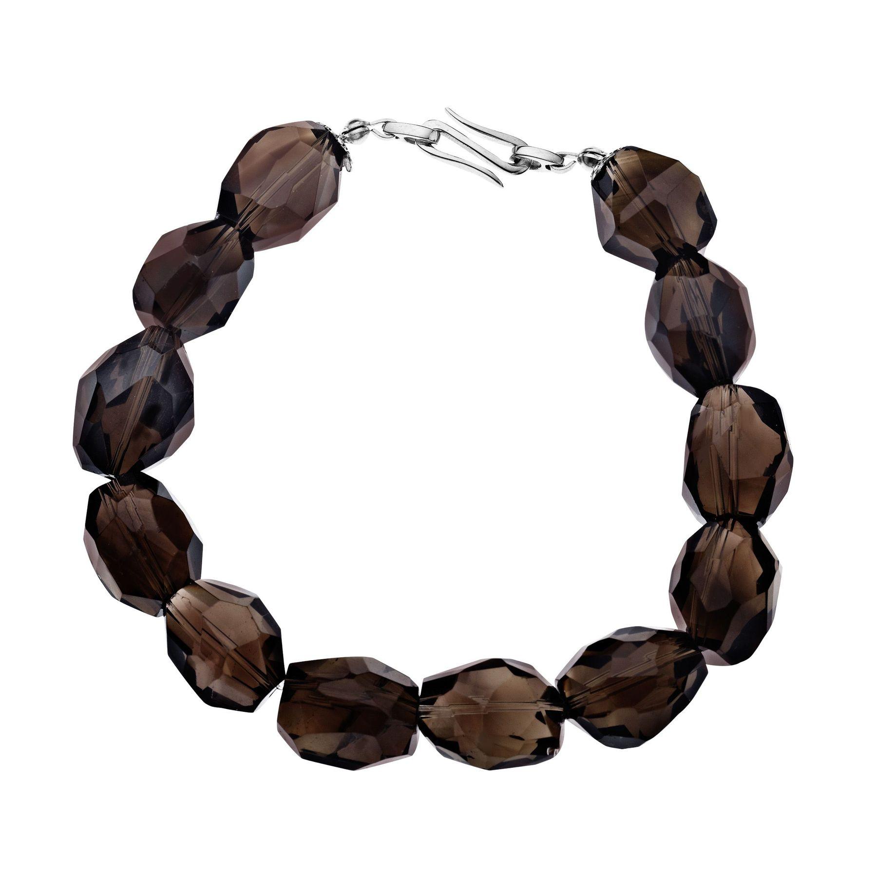202 Ct Smokey Quartz Bracelet