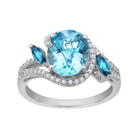4 1/4 ct Swiss Blue Topaz Ring