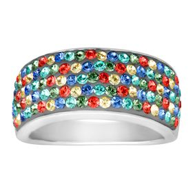 Confetti Band Ring with Swarovski Crystals