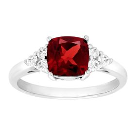 2 1/6 ct Garnet & White Topaz Ring