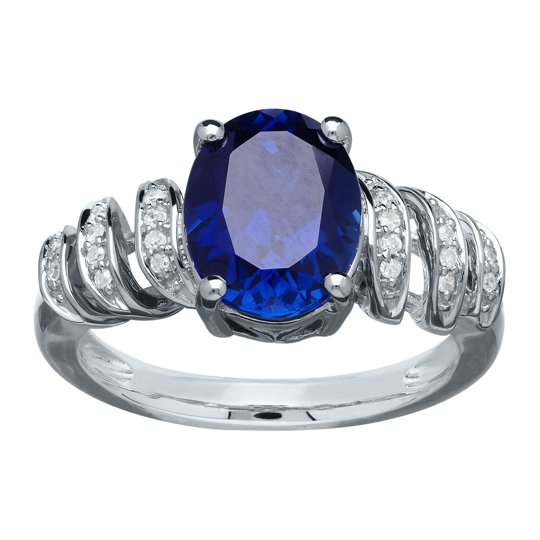 sapphire shipping product ring watches today boston band saffire jewelry diamonds white stackable blue bay overstock rings free gold