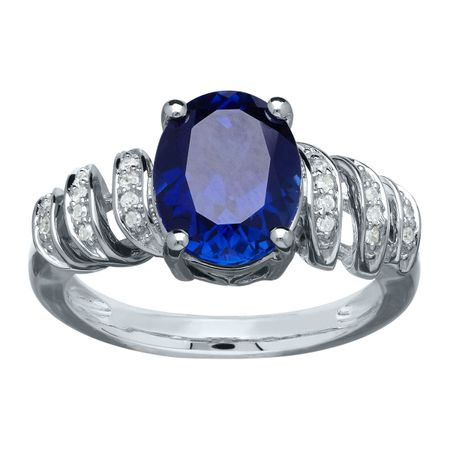 3 1/2 ct Sapphire Ring with Diamonds