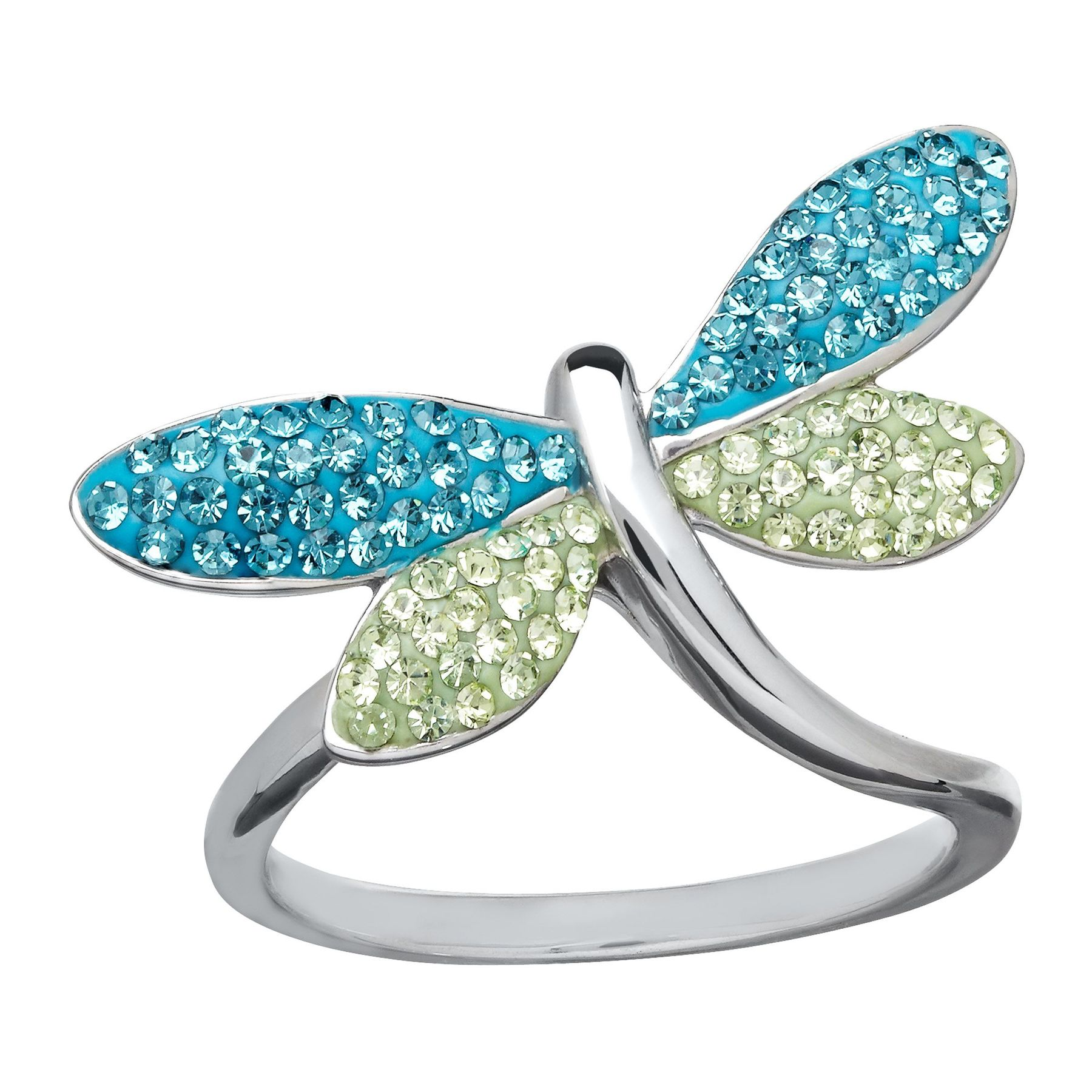 jewellery sterling silver rings cz ring product engagement cheshire blue dragonfly