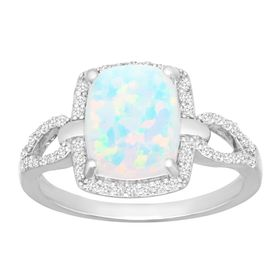 3/4 ct Opal & 1/4 ct Diamond Ring