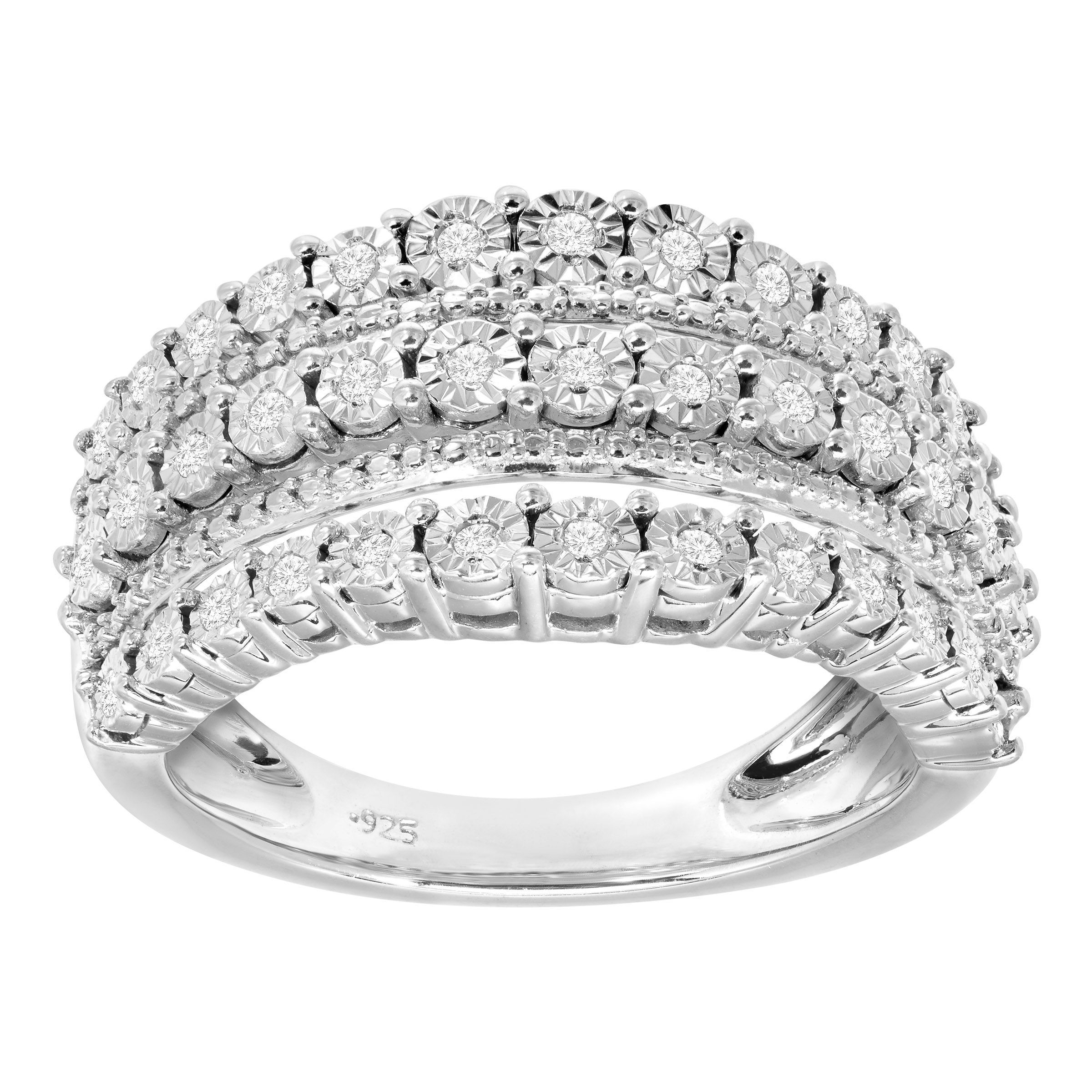 engagement diamond set in gm white gold layered products layer ring multi rings ct stacked