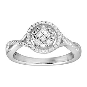 1/5 ct Diamond Halo Ring