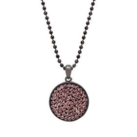 Disc Pendant with Swarovski Crystals
