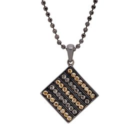 Tile Pendant with Swarovski Crystals