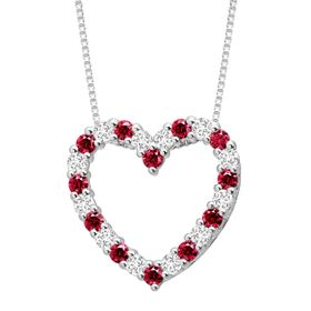 Open Heart Pendant with Swarovski Zirconia