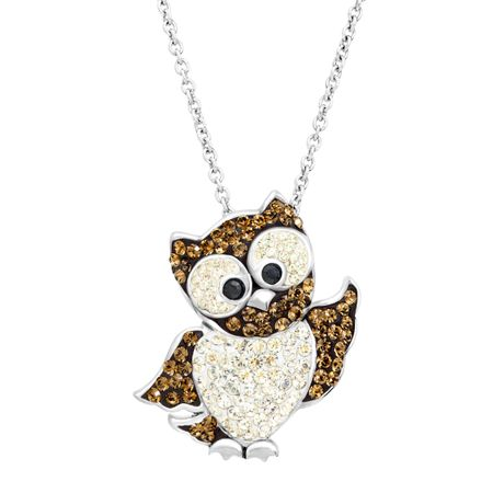 Owl pendant with swarovski crystals in sterling silver owl pendant owl pendant with swarovski crystals mozeypictures Image collections