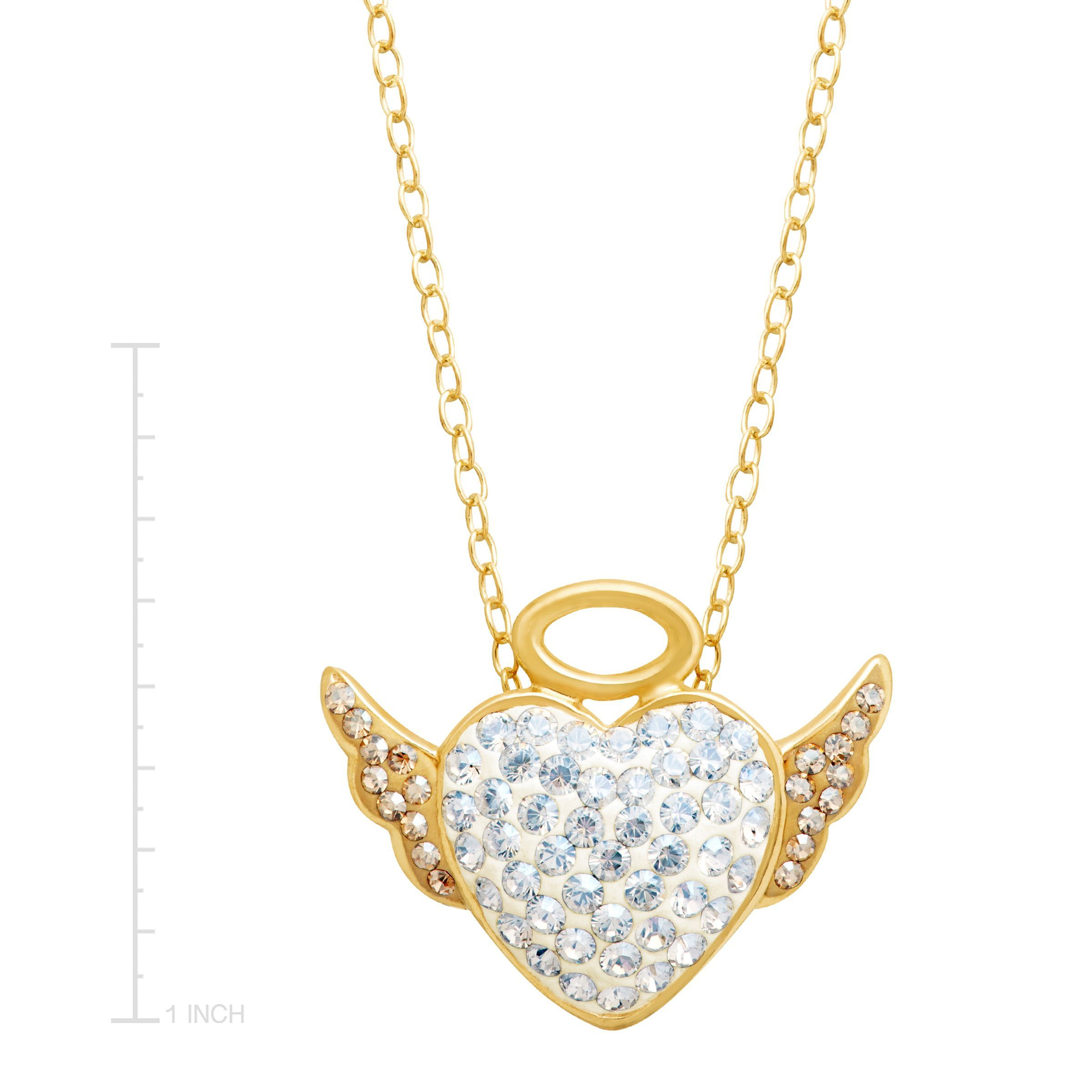 gold for men by pendant in mainwh luxurman diamond solid angel baby