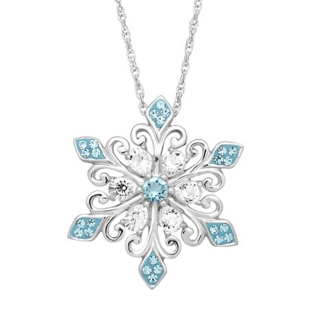 dfcdd573fd Crystaluxe Snowflake Pendant with Swarovski Crystals in Sterling ...