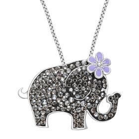 Elephant Pendant with Swarovski Crystals