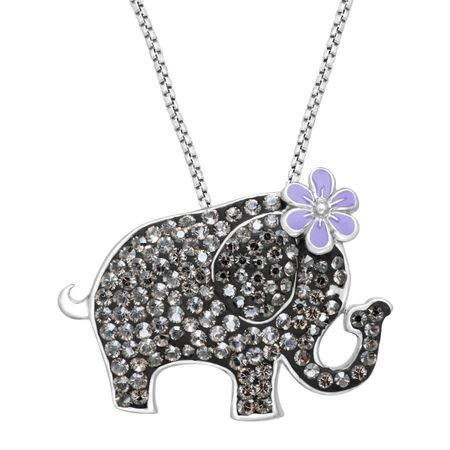 Crystaluxe elephant pendant with swarovski crystals in sterling elephant pendant with swarovski crystals aloadofball Image collections