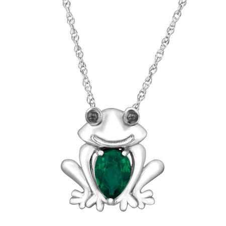 58 ct created emerald frog pendant in sterling silver 58 ct 58 ct emerald frog pendant mozeypictures Image collections